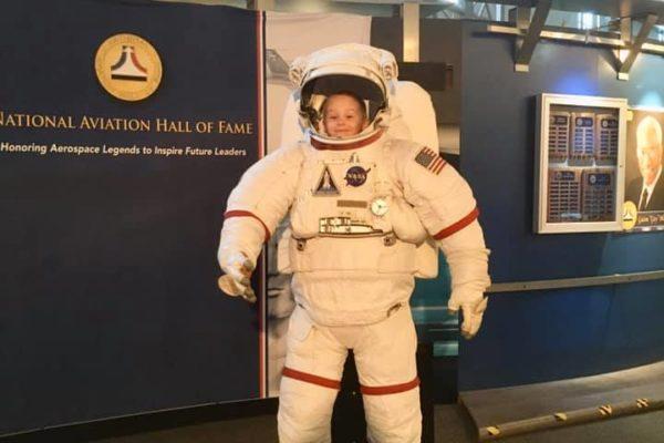 Dayton Air Force Museum - Circle City Adventure Kids - Astronaut Suit