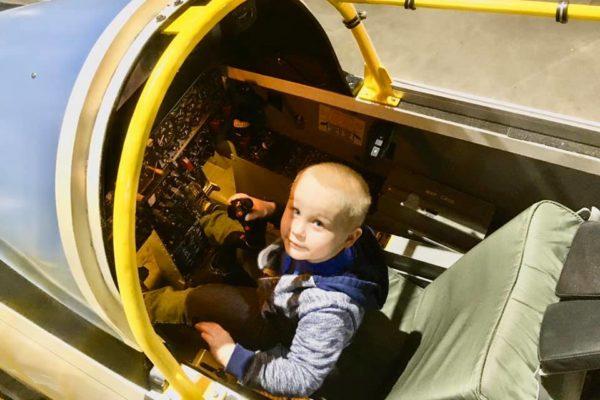 Dayton Air Force Museum - Circle City Adventure Kids - Sit-In Jet